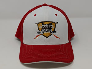 Archery Past Baseball Hat - Red & White