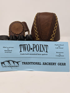 Thunderhorn Two Point Small Fry Contrasting Leather Bow Quiver LBSFCL11