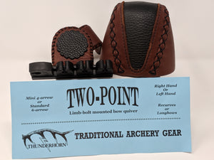 Thunderhorn Two Point Small Fry Contrasting Leather Bow Quiver LBSFCL1