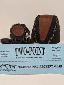 Thunderhorn Two Point Small Fry Contrasting Leather Bow Quiver LBSFCL7