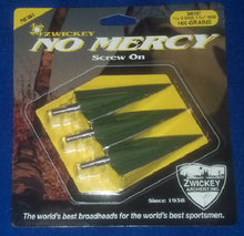 "Zwickey No Mercy Screw In Broadheads 11/32"", 165 grains, 3 pack"