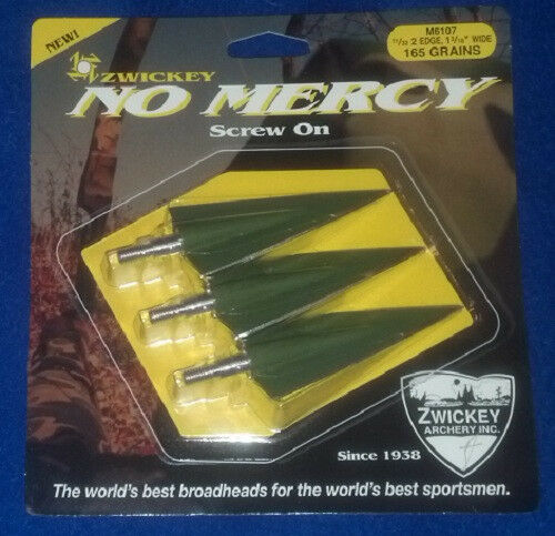 Zwickey No Mercy Screw In Broadheads 11/32