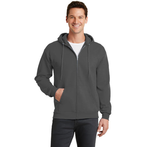 Explore Academy Adult Core Fleece Hooded Zip-Up Sweatshirt