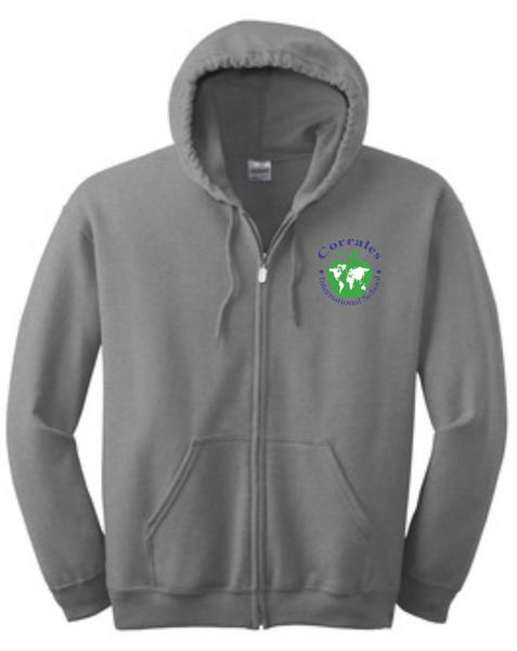 CIS Zip up Hoodie with Apple print