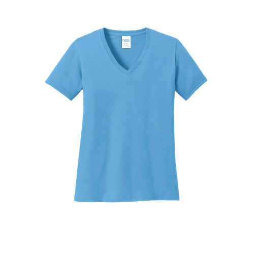 Explore Ladies V-Neck Short Sleeve T-Shirt Two Extra Large (2XL)