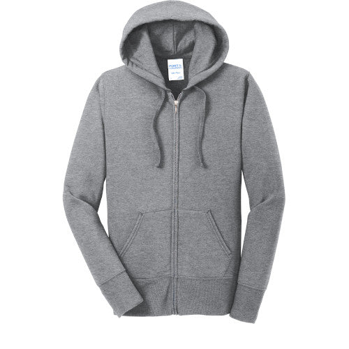 Explore Academy Ladies Fleece Hooded Zip-Up Sweatshirt