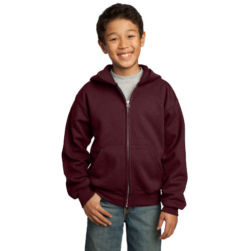 Explore Academy Youth Core Fleece Hooded Zip-Up Sweatshirt