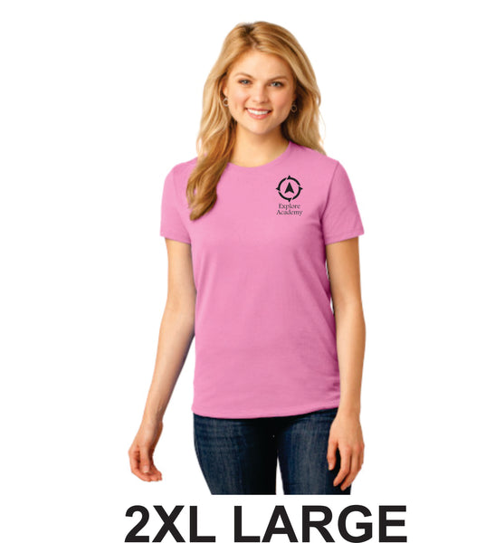 Explore Ladies Short Sleeve T-Shirt Two Extra Large (2XL)