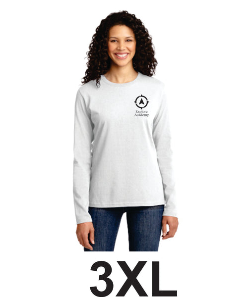 Explore Academy Ladies Long Sleeve T-Shirt Three Extra Large (3XL)