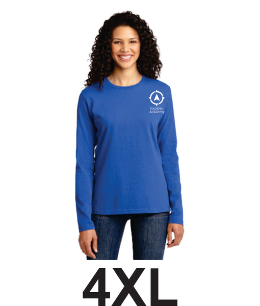 Explore Academy Ladies Long Sleeve T-Shirt Four Extra Large (4XL)