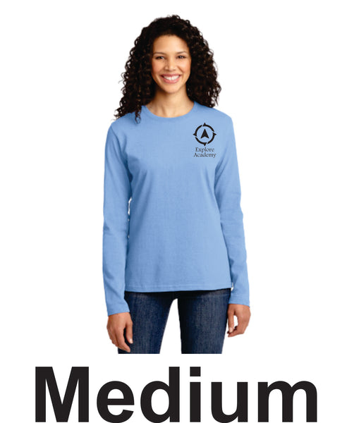 Explore Academy Ladies Long Sleeve T-Shirt Medium