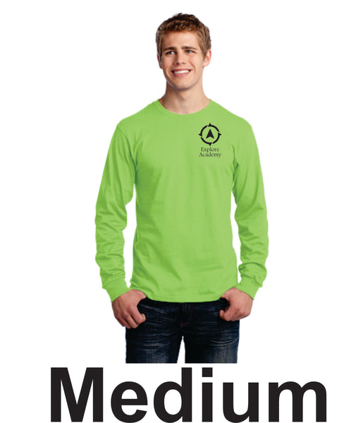 Explore Academy Adult Long Sleeve T-Shirt Medium