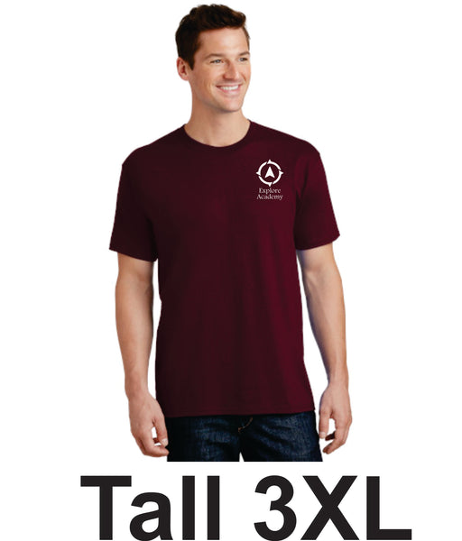 Explore Academy Adult Tall Short Sleeve T-Shirts Three Extra Large (3XLT)