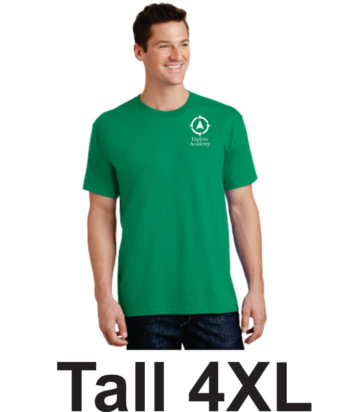 Explore Academy Adult Tall Short Sleeve T-Shirts Four Extra Large (4XLT)