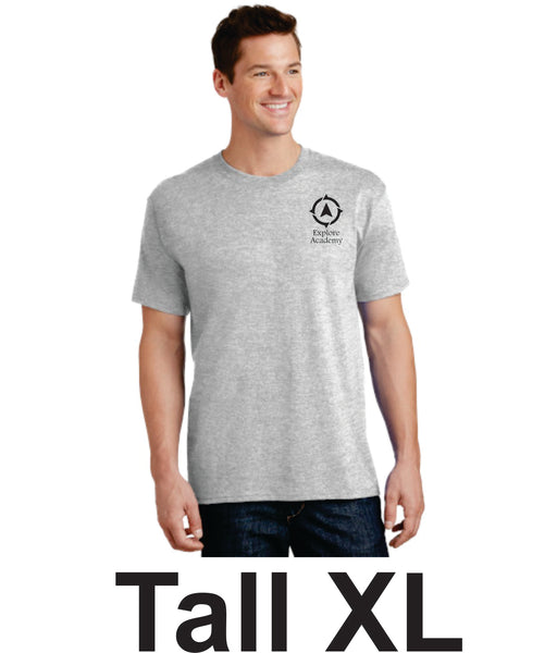 Explore Academy Adult Tall Short Sleeve T-Shirts Extra Large (XLT)