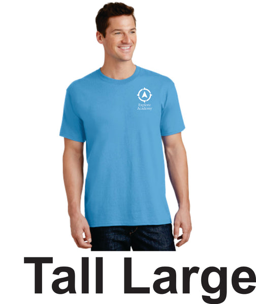 Explore Academy Adult Tall Short Sleeve T-Shirts Large