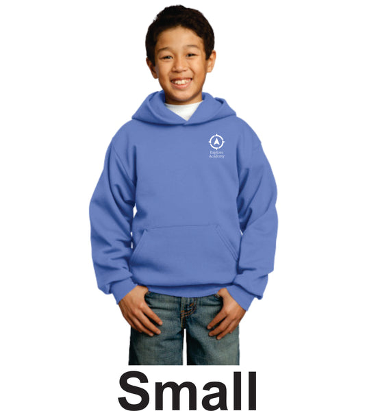 Explore Academy Youth Core Fleece Pullover Hooded sweatshirt Small