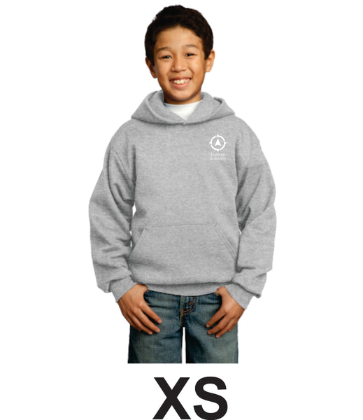Explore Academy Youth Core Fleece Pullover Hooded sweatshirt Extra Small (XS)