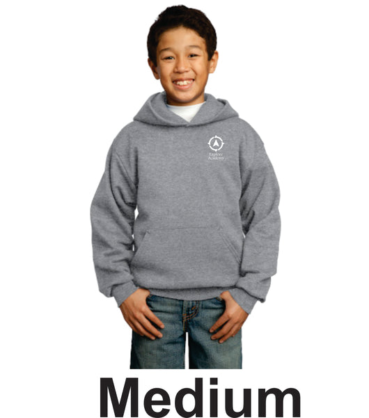 Explore Academy Youth Core Fleece Pullover Hooded sweatshirt Medium