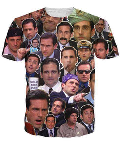 MyFancySauce:Many Faces of Michael Scott T-Shirt,S