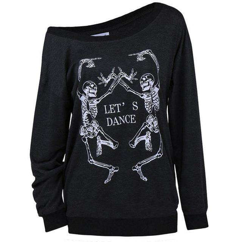 MyFancySauce:Let's Dance Skeleton Top,Large