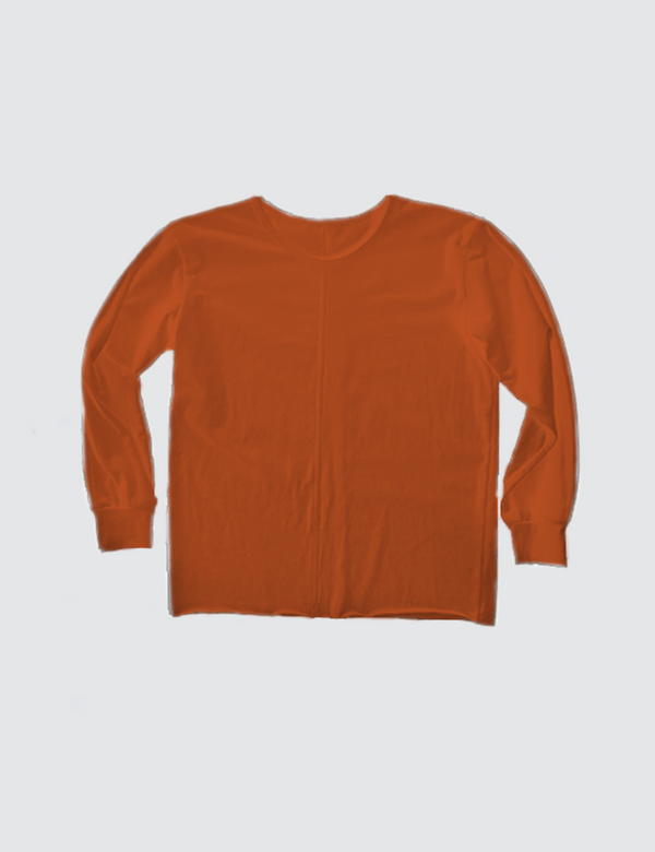 Orange crewneck long sleeve tee