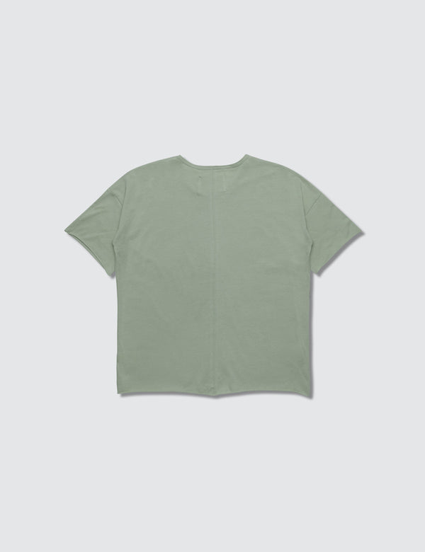 Light green crewneck short sleeve tee
