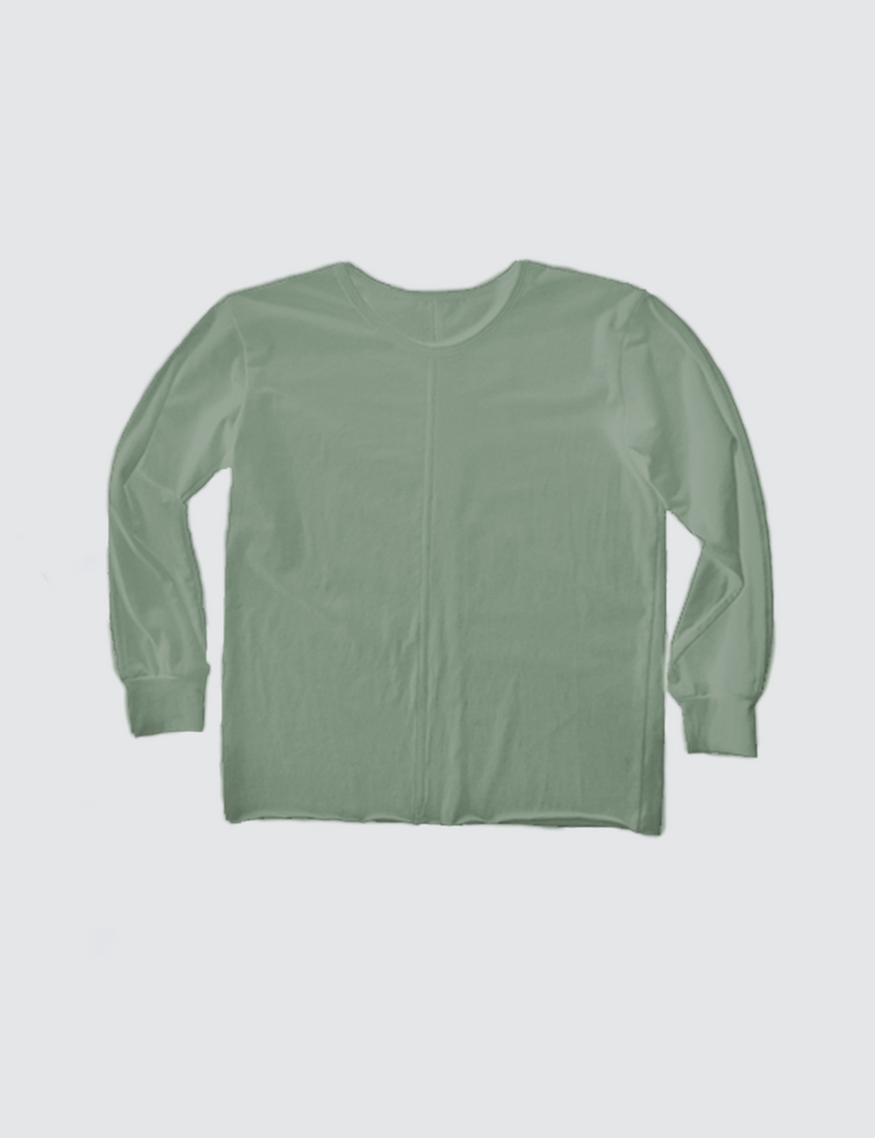 Light green crewneck long sleeve tee