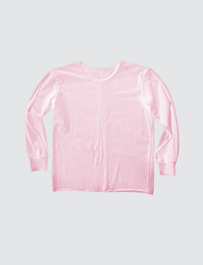 Pink crewneck long sleeve tee