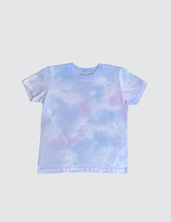 Purple Rose Tie-Dye Short Sleeve Top