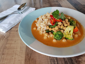 Vegan Red Curry with Chickpeas