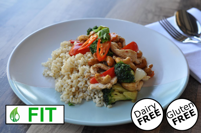 Stir Fried Chicken with Cashews and Vegetables (Fitness)