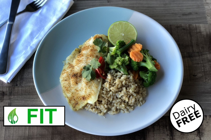 Chilli and Lime Fish with Brown Rice (Fitness)