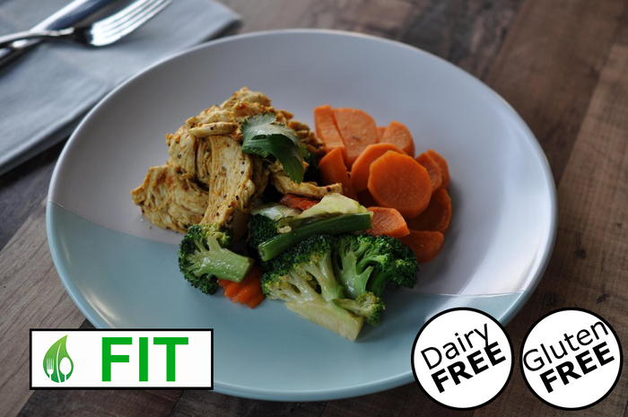 Moroccan Chicken with Vegetables & Sweet Potato (Fitness)