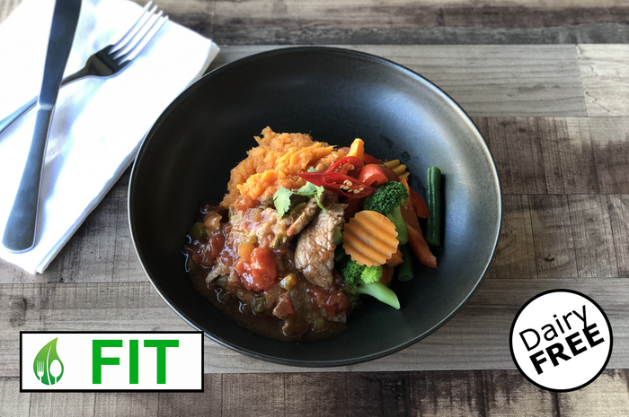 Saucy Beef with Sweet Potato Mash (Fitness)