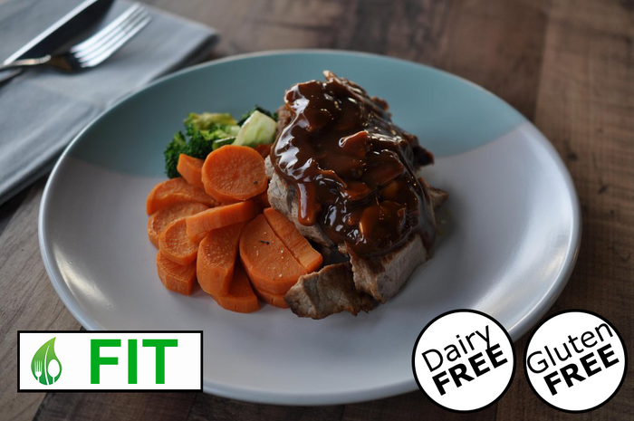 Sirloin Steak with Mushroom Sauce (Fitness)