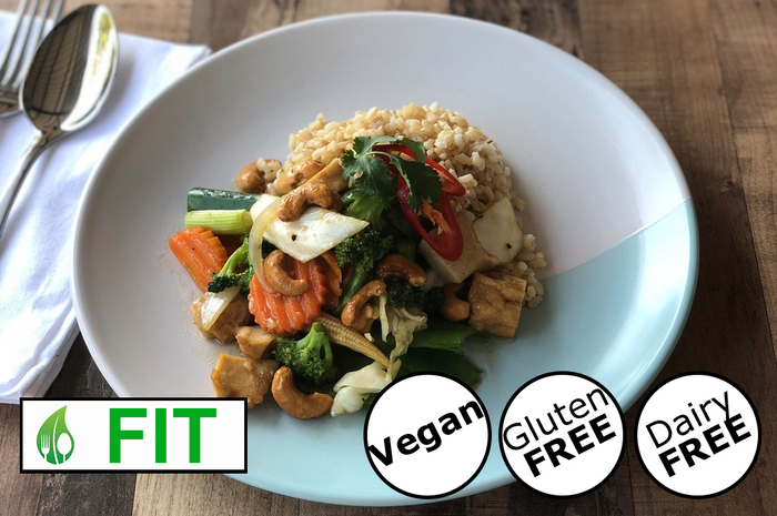 Vegan Stir-Fried Cashews with Tofu