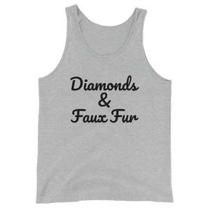Diamonds & Faux Fur- Unisex  Tank Top