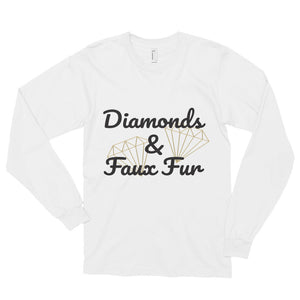 Diamonds and Faux Fur- Long sleeve t-shirt (unisex)