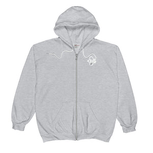 Bee Logo White Unisex Zip Hoodie-Bee You Clothing