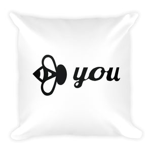 Bee You Original Square Pillow-Bee You Clothing