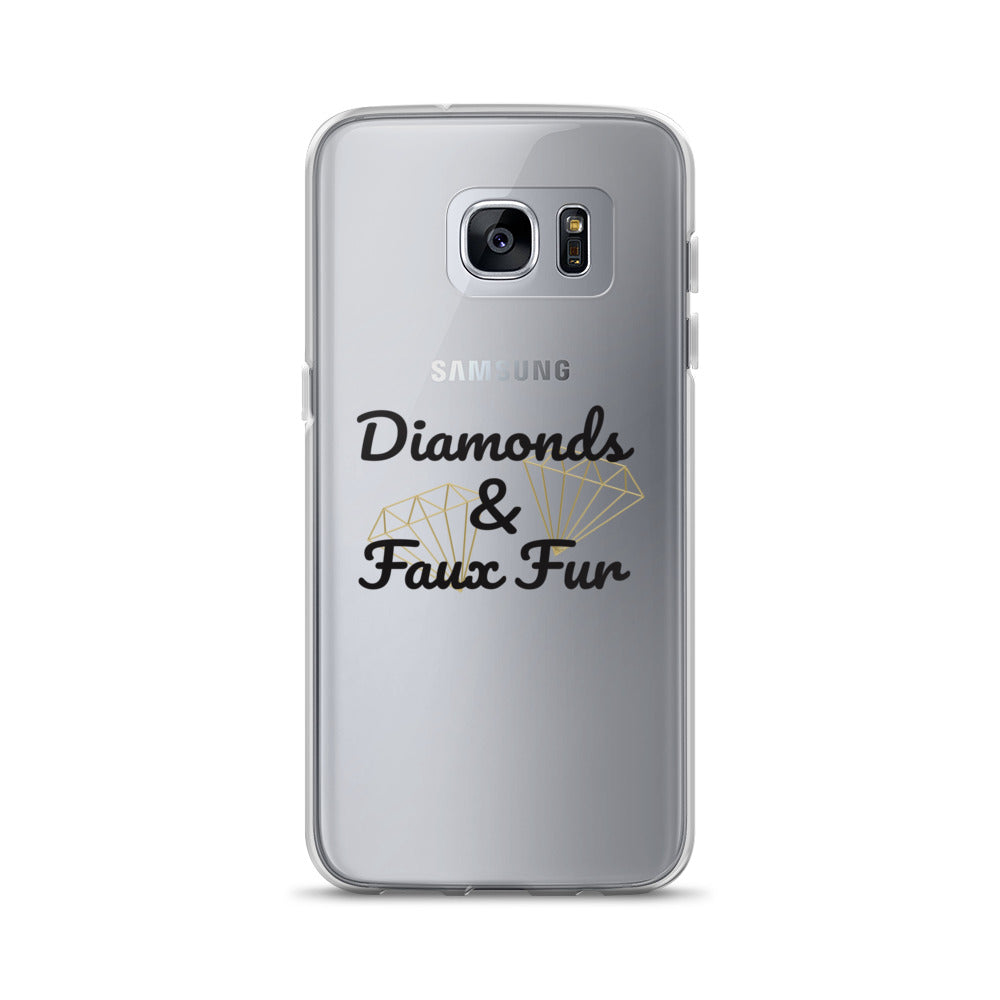 Diamonds and Faux Fur- Samsung Case