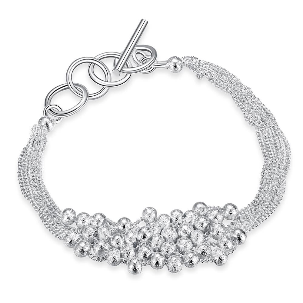 Bubble Pearl Bracelet in 18K White Gold Plated