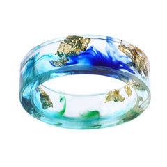 Blue Wave Resin Ring