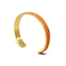 Stingray Leather Cuff Bracelet - Orange Gold