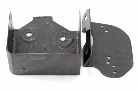 Ducati 999RS Carbon battery holder and regulator support bracket