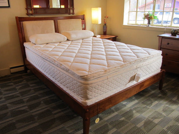 Example of an extra-deep Pillow Top mattress, courtesy of our friends at Design Sleep in Yellow Springs, Ohio.