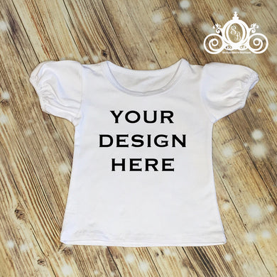 CUSTOMIZE ME! White Royal Tee