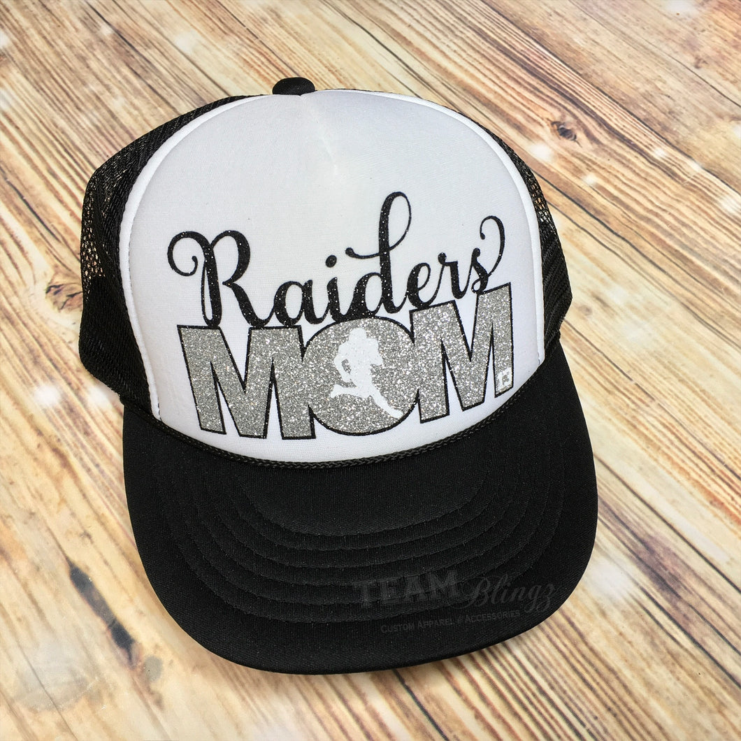 RAIDERS MOM FOOTBALL MOM SPORTS TRUCKER HAT