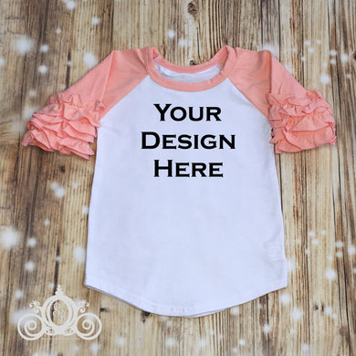 CUSTOMIZE ME! Peach Icing Ruffle Raglan